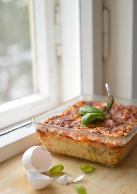 Scandinavian mac&cheese with soy. Hälften spydde, resten dog.