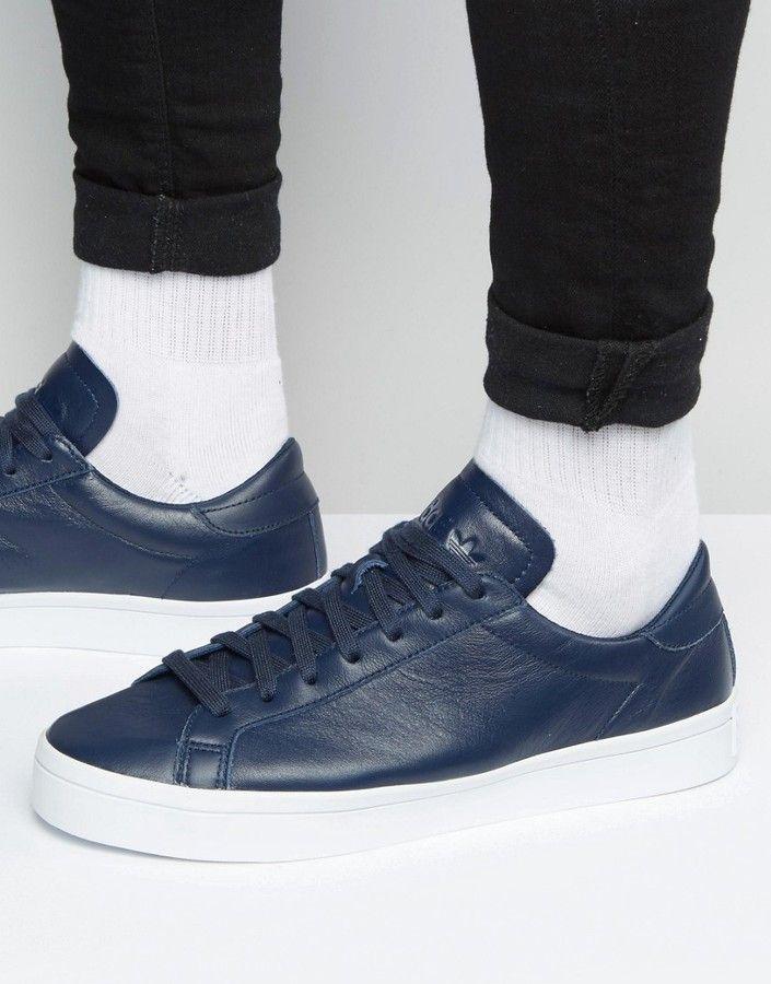 adidas Originals Court Vantage Sneakers In Blue S76209