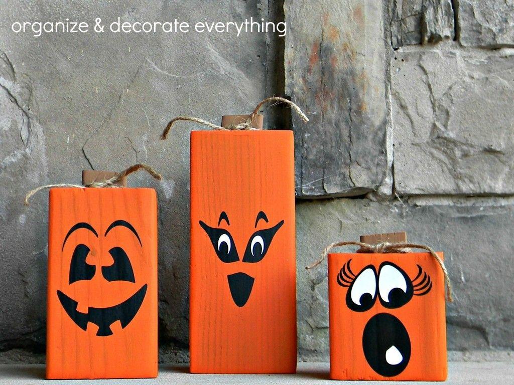 Halloween Basteln Holz.4x4 2 Sided Pumpkins Herbst Halloween Basteln Holz Herbst