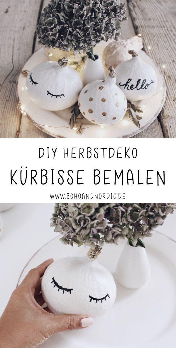 DIY Herbstdeko selber machen - Kürbisse bemalen - Boho and Nordic | DIY & Interior Blog