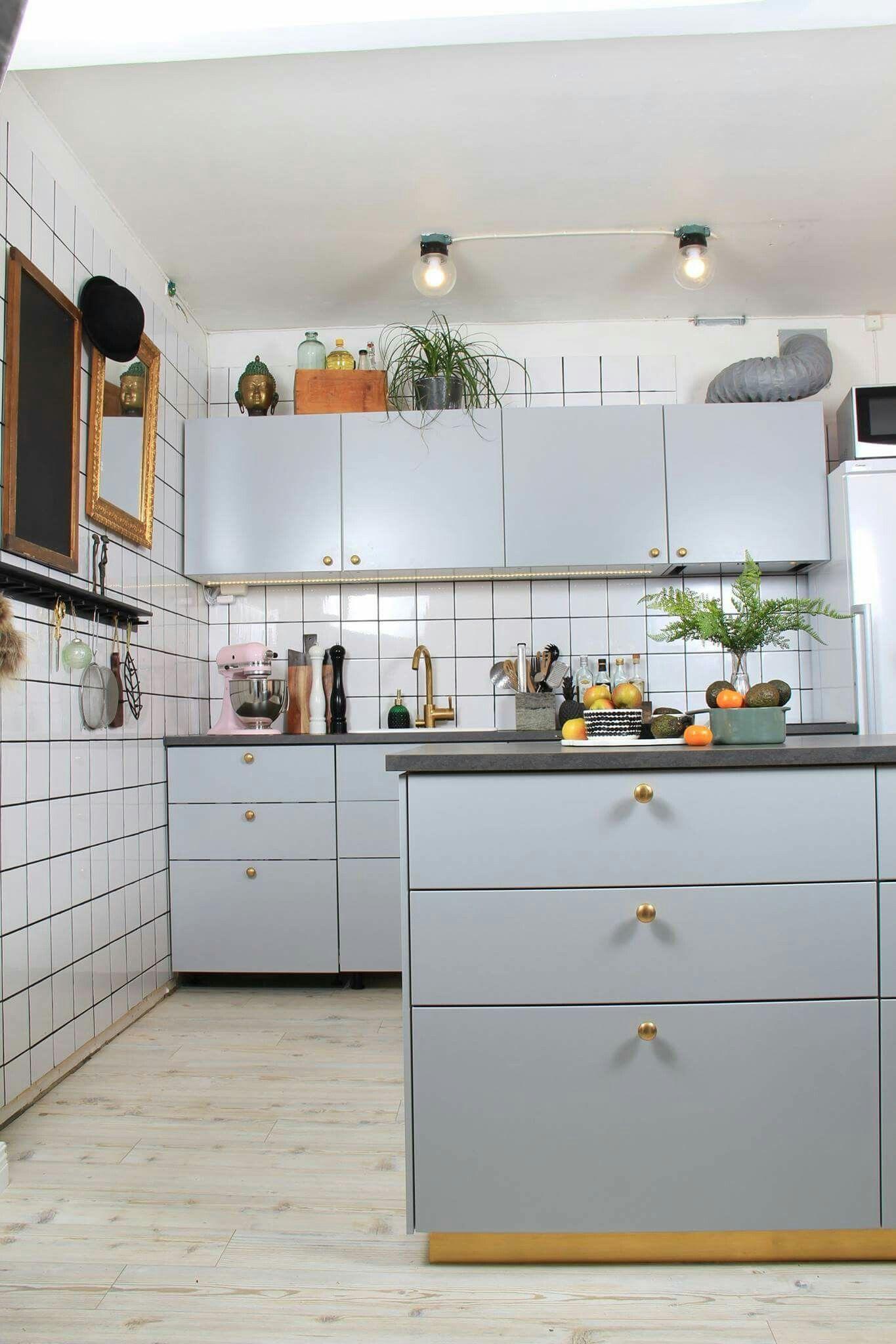Ikea Kitchen Veddinge Gra Jursla Kok Pinterest Minimalist Home Furniture Minimalist Home Decor Minimalist Kitchen Design