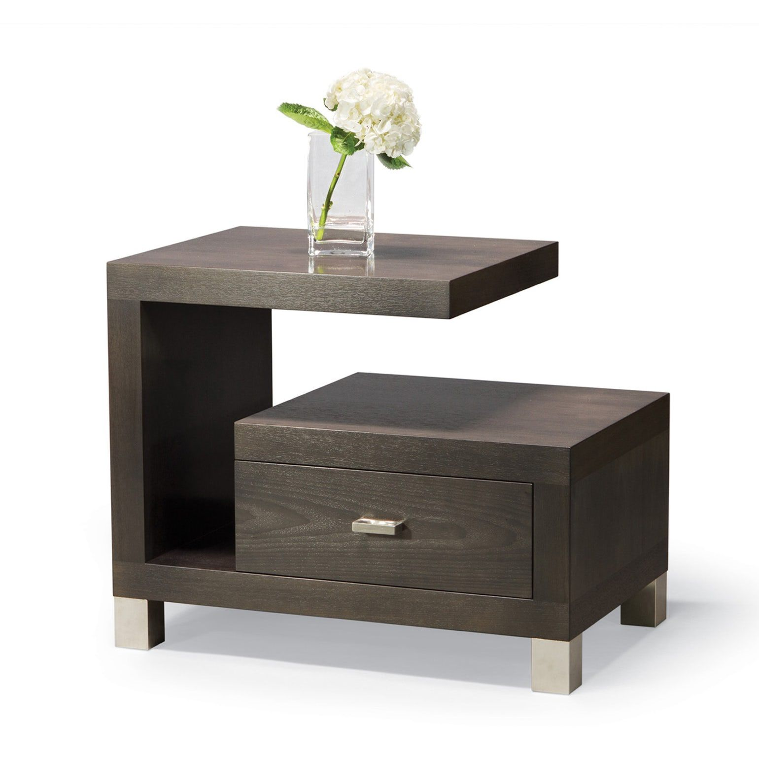 Cantilever Night Stand Contemporary Midcentury Modern Metal