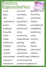 positive Eigenschaften Liste | Witzig | Pinterest