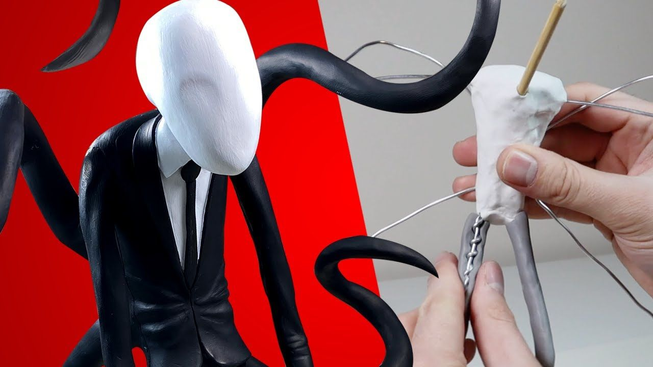Making Slender Man Creepypasta Polymer Clay Timelapse Tutorial Ace Of Clay Youtube In 2020 Slenderman Clay Polymer Clay