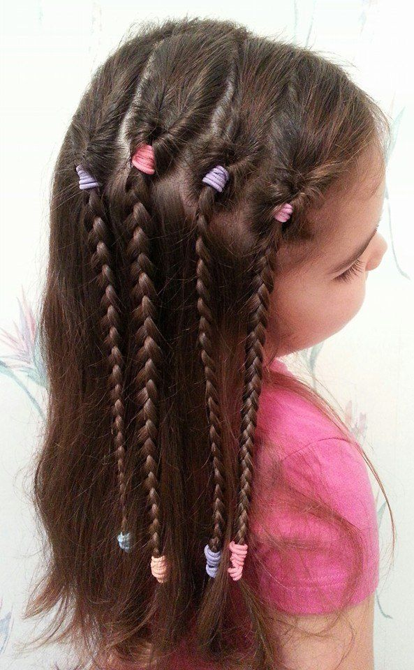 kids hairstyle long hair girl