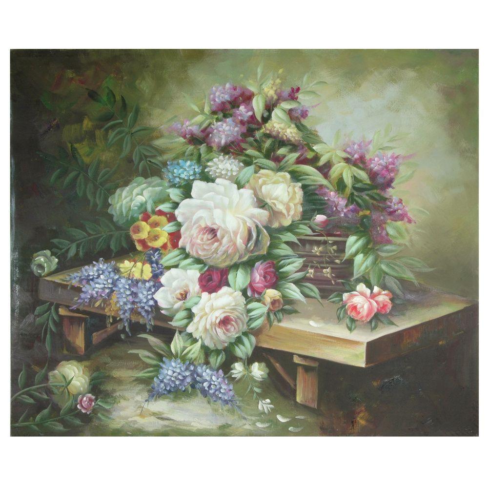 Ручная роспись Таблица цветочный букет Картина на холсте (Китай) - Распродажи ™ Shopping - Лучшие гобелены