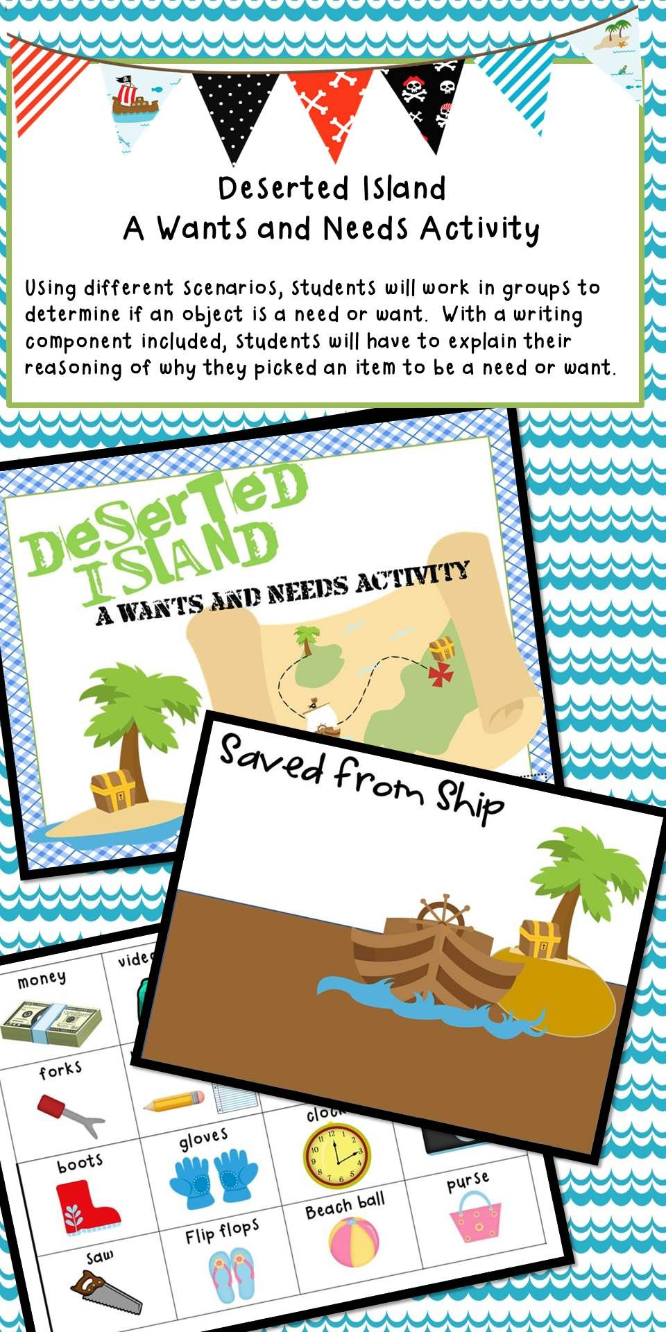 Deserted Island A Needs and Wants Activity Desert
