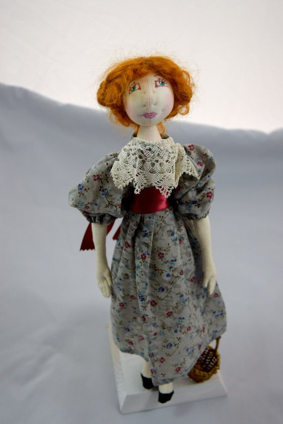 Little red riding hood, 14 inches doll, story book doll, OOAK, artist doll, fully articulated doll, Le Petit Chaperon Rouge, poupee chiffon.