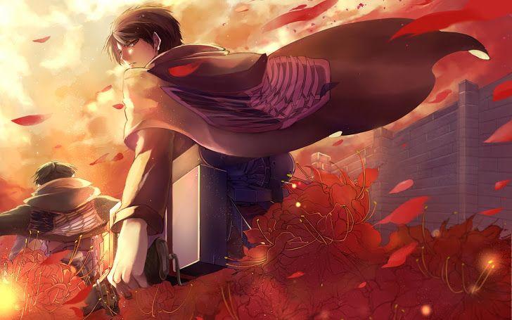 Eren Levi Recon Corps Logo Cape M01 Hd Wallpaper Attack On Titan Anime Attack On Titan Attack On Titan Eren