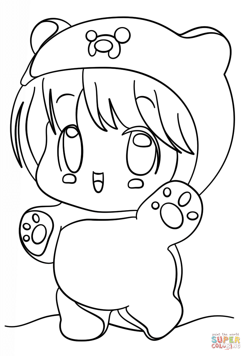 kawaii chibi girl coloring page png 824 1186 bilder pinterest