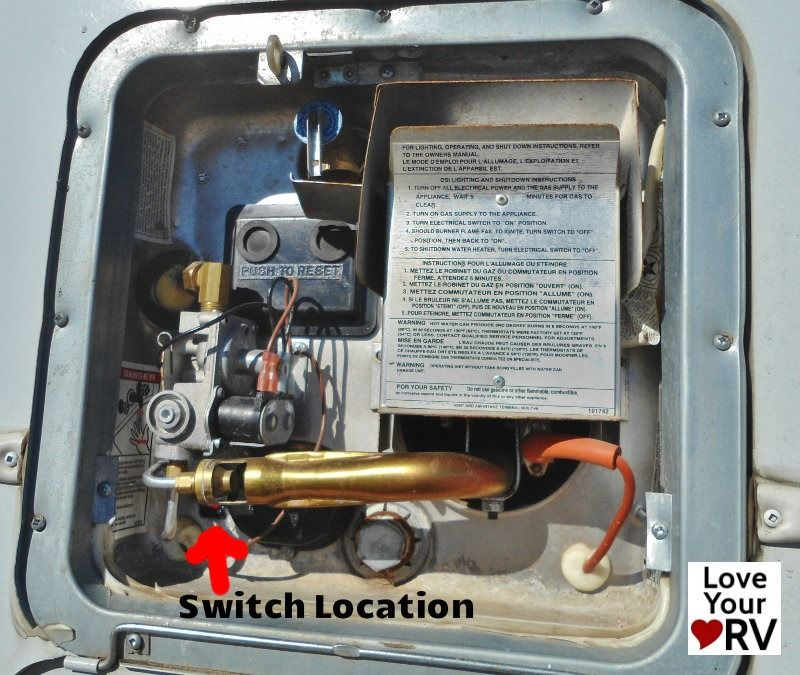Faulty Electrical Switch on a Suburban SW6DE Hot Water