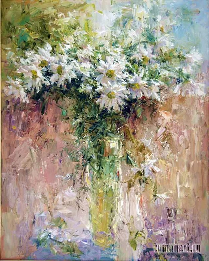 Tuman Zhumabaev, 1962 ~ Impressionist painter is part of Impressionist art, Impressionist paintings, Art, Contemporary abstract art, Floral art, Art painting -  Жумабаев is one of the most prominent artist living in Russia today  Recently, he had a painting acquired by the Hermitage for its permanent collection  Arrived in Leningrad from Kyrgyzstan  In 19811985 he studied at the Serov Art College; in 1991 he graduated from the Repin Institute of Painting, Sculpture and Architecture, under the tuition of Profession Yu  M  Neprintsev  His paintings are known in Austria, Vietnam, Iran, and China