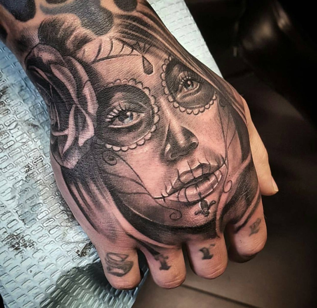 Pin by Tareef Tattoos on Hand Sleeve Hand tattoos for