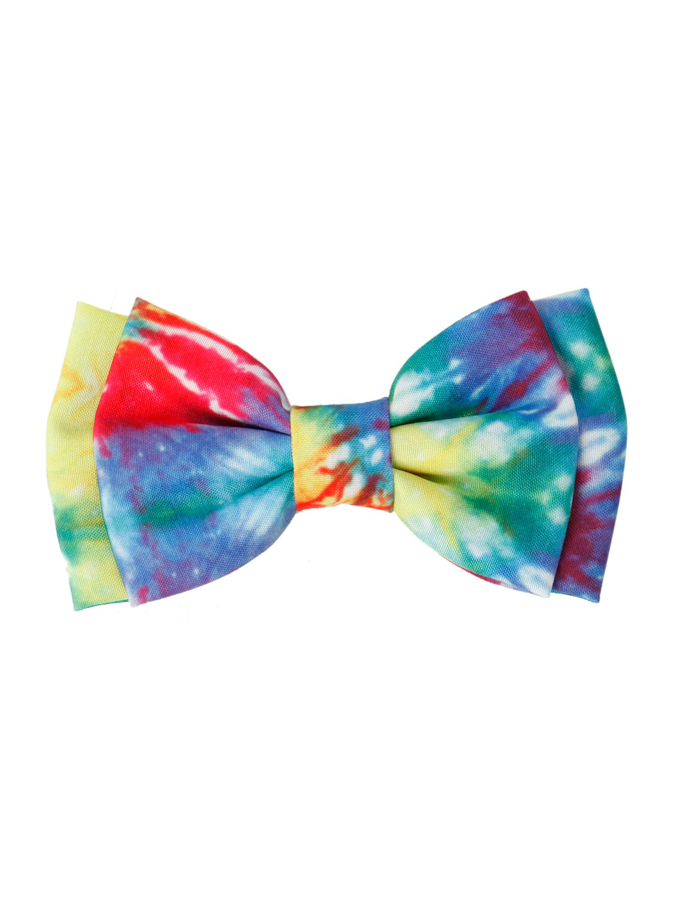 Tie Dye Hair Bow Hot Topic