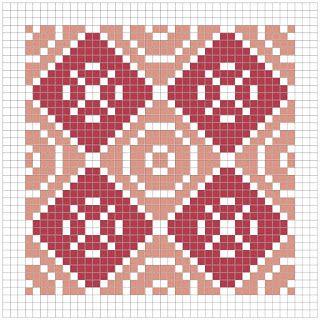 Мир в соответствии с AGI: Геометрический узор одеяло крестом