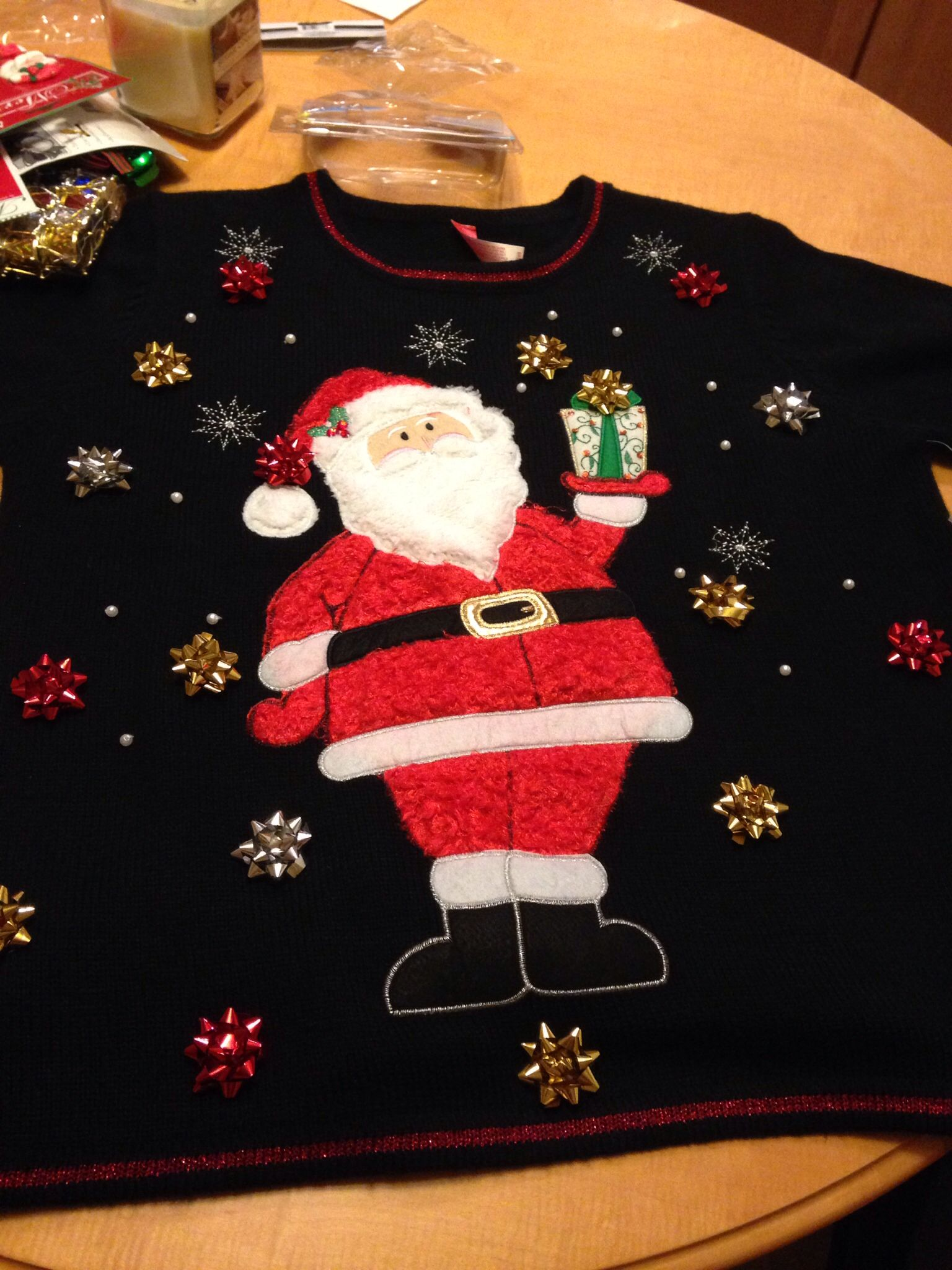 Ugly Christmas Sweater #BeforePic
