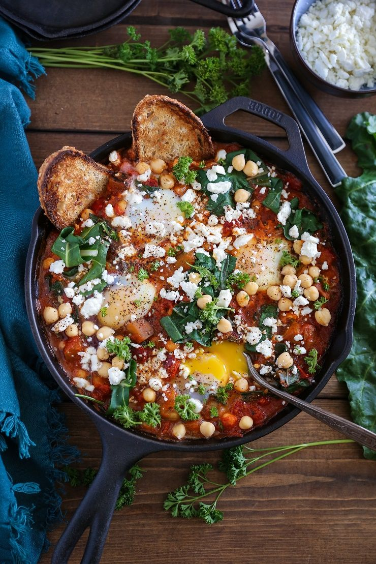 Eggplant Chickpea And Chard Shakshuka