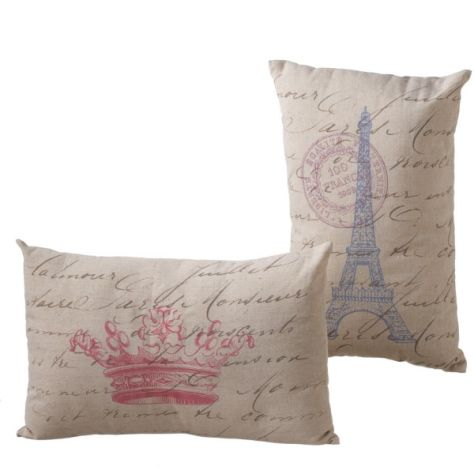 French Icon Pillow Rectangle