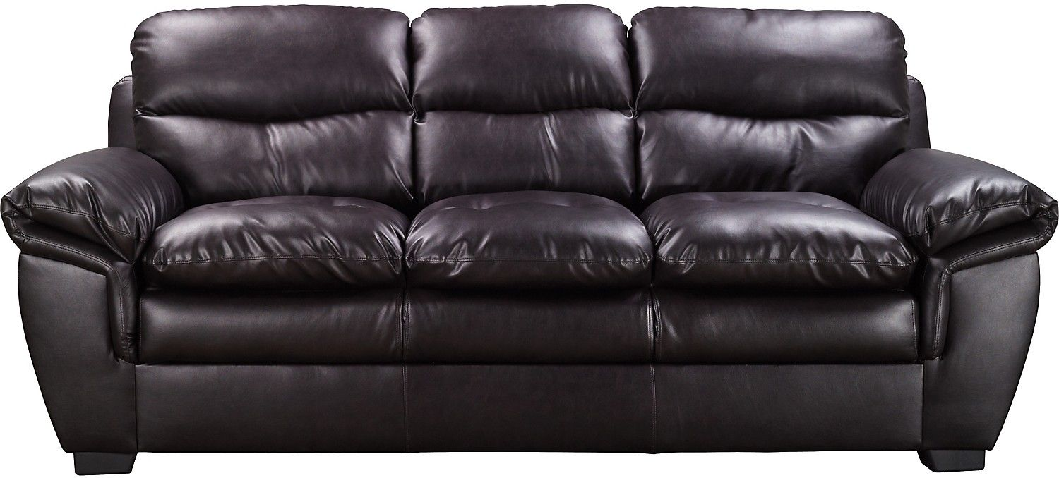 Wonderful E6 Brown Bonded Leather Sofa | The Brick