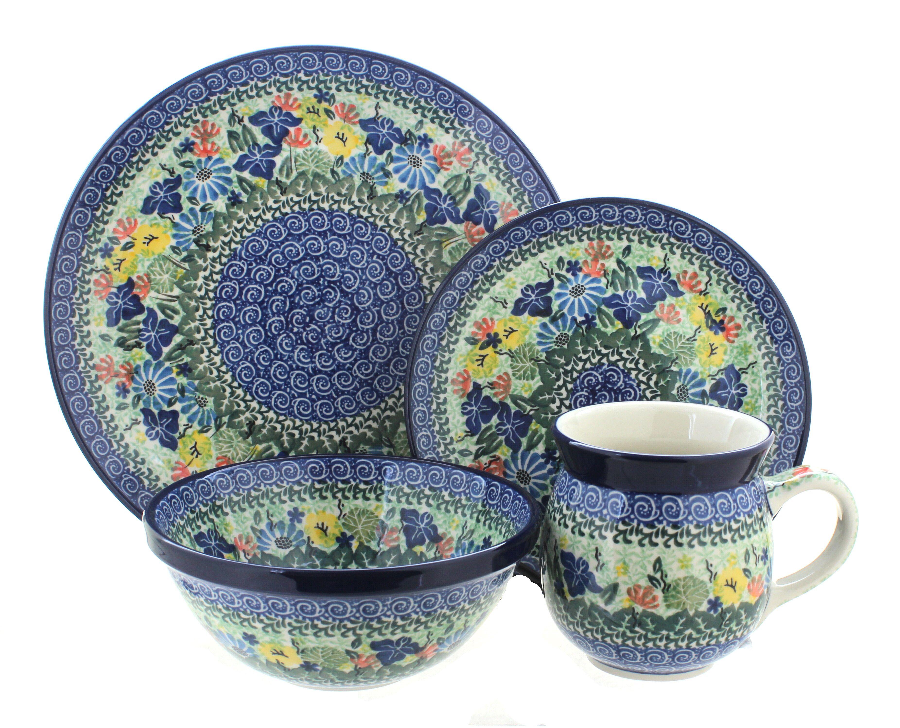 Blue Rose Polish Pottery Melanie Pitcher