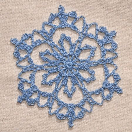 these snowflakes would make a pretty lacy garland for a Christmas ...