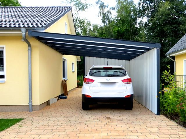 awesome carports aus aluminium images. Black Bedroom Furniture Sets. Home Design Ideas