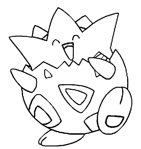 Togepi Pokemon Coloring Pokemon Coloring Pages Pikachu