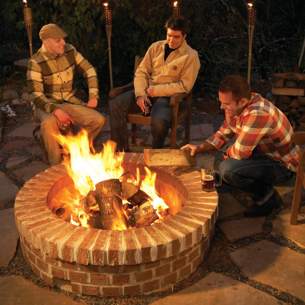 DIY Fire Pit Brick fire pit, How to build a fire pit