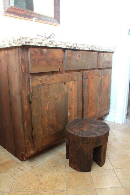 Vanity Stool Diy Stool: Rustic Furniture, Rustic Vanity, Log