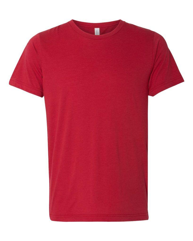 Solid Red T Shirt Kaos Pria Kaos Baju Kaos