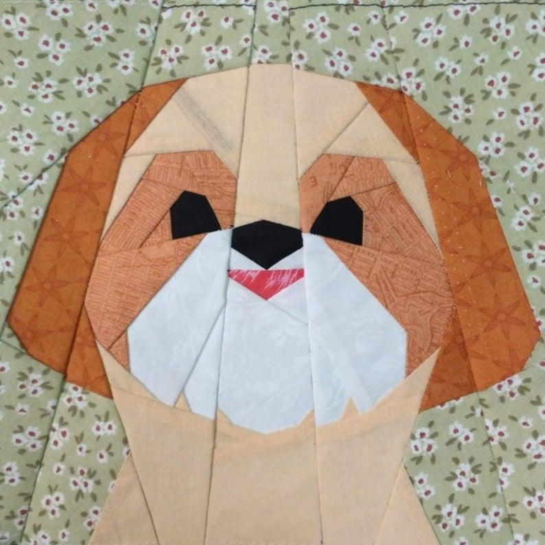 Shih Tzu boy quilt block pattern | Boy quilts, Quilts ...