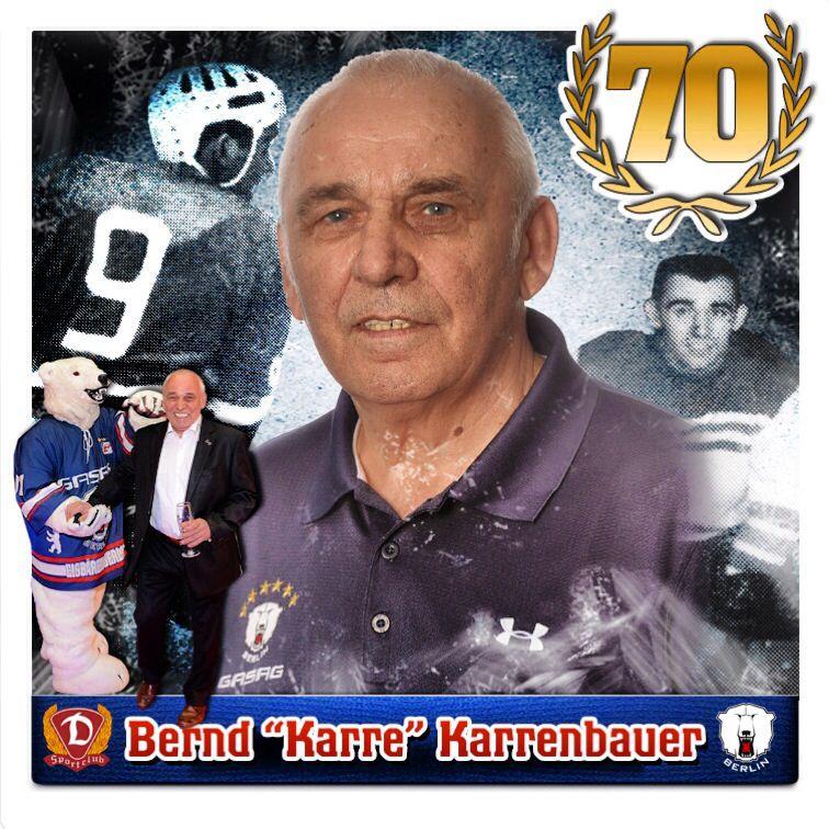 """Am heutigen Mittwoch begeht der dienstälteste Eisbär seinen 70. Geburtstag! Bernd """"Karre"""" Karrenbauer gehört nun schon über 50 Jahre zu unserem Club. Karre, wir wünschen Dir auch auf diesem Wege alles alles Gute und hoffen, dass Du uns noch lange erhalten bleibst. #bestwishes #happybirthday #70 #bernd #karre #karrenbauer #betreuer #eisbaeren #berlin #del #hockey #5 #2014 #march #german #germany #berlin #rom #mecklenburg"""