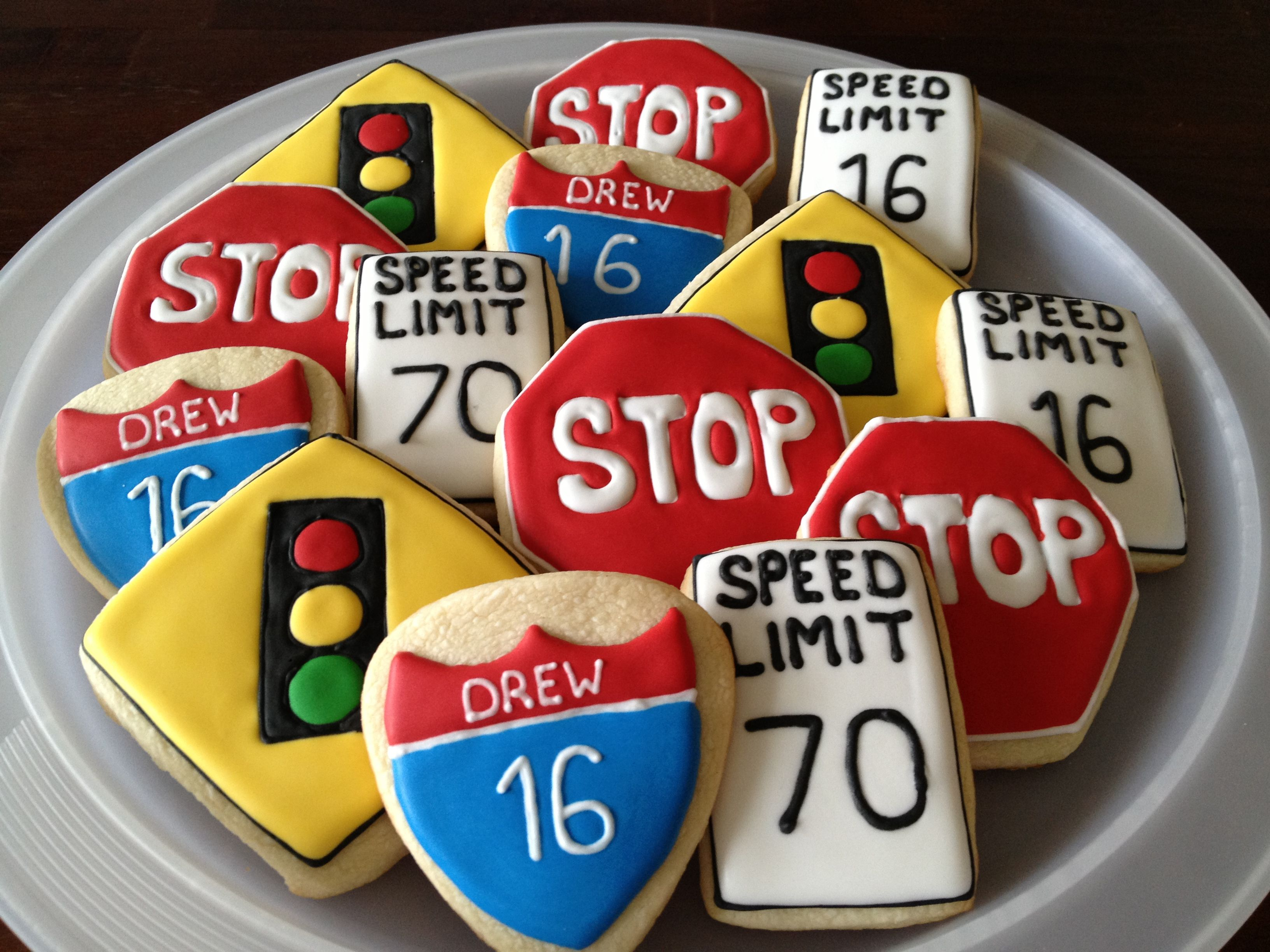 A Great Idea For Cookies At The 16th Birthday Party For A