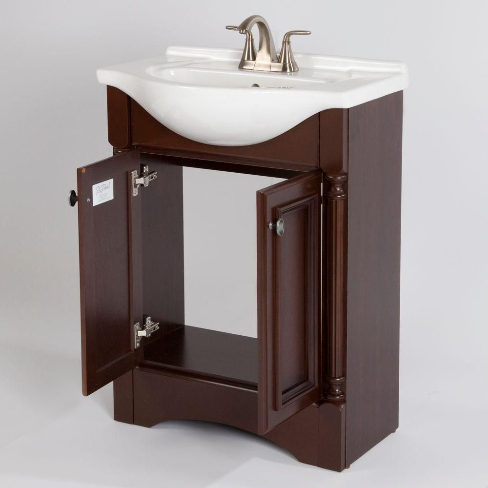 Bathroom Vanities From Home Depot glacier bay valencia 25 in. vanity in glazed hazelnut with