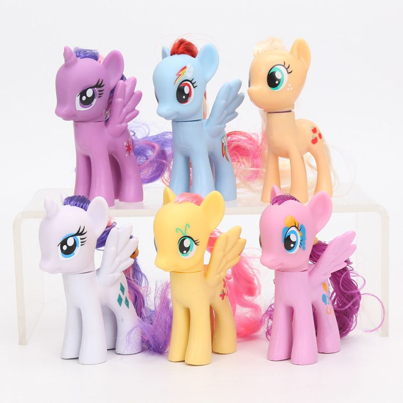 Pack Of 6 My Little Pony Toys Set Friendship Is Magic Rainbow Dash
