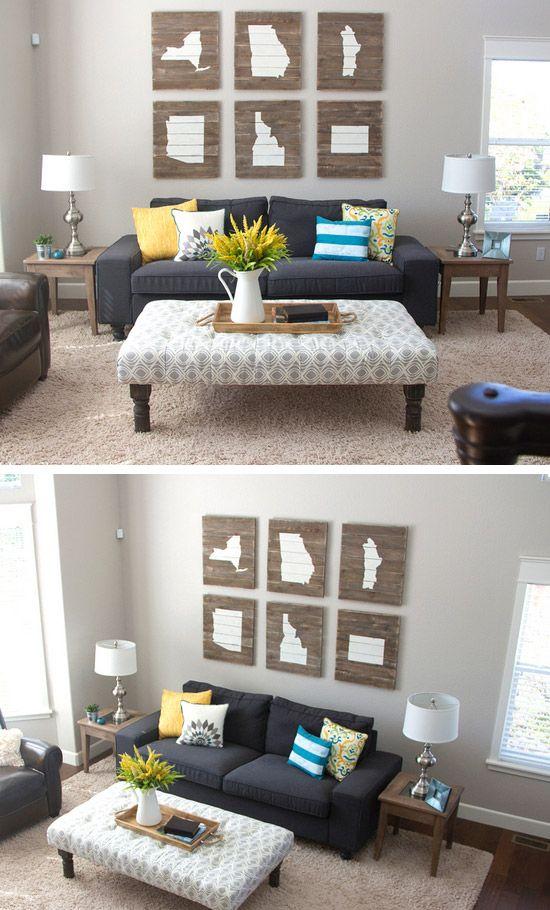 45 Beautiful Diy Wall Art Ideas For Your Home Diy Living Room Decor Diy Crafts Room Decor Living Room Diy