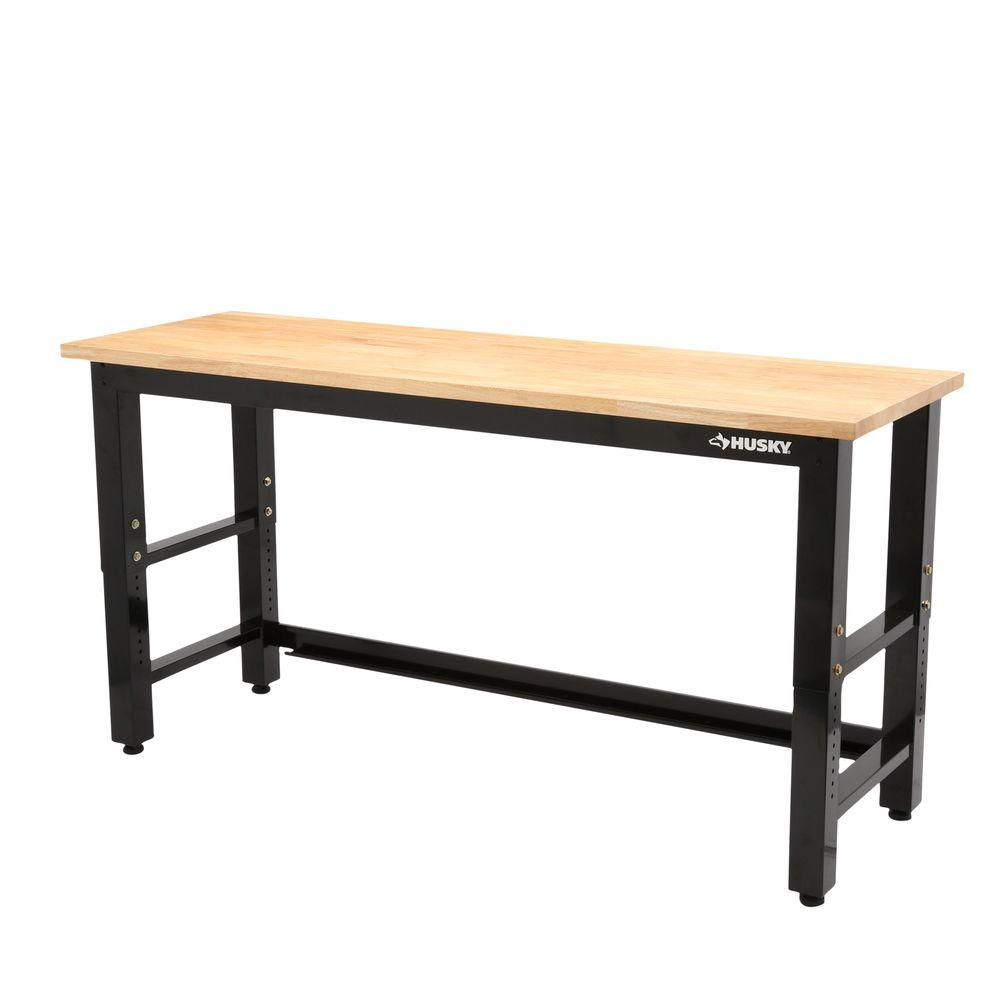 Husky 6 Ft Solid Wood Top Workbench Solid Wood Woods