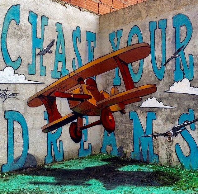 """""""Chase Your Dreams"""" by Odeith in Lisbon, Portugal, 6/15 (LP)"""