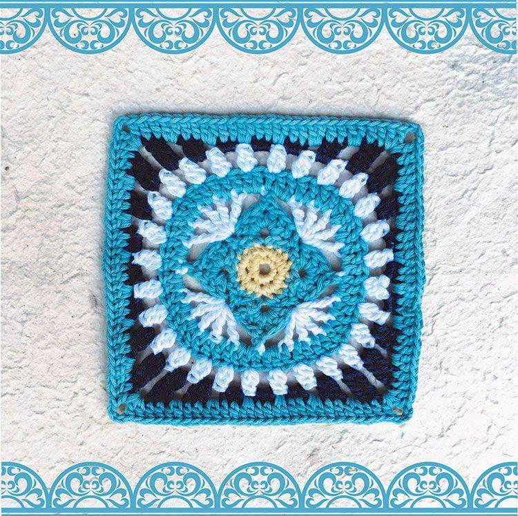 Marokkaanse hekelblok #7 | Vrouekeur | crochet | Pinterest | Plaza y ...