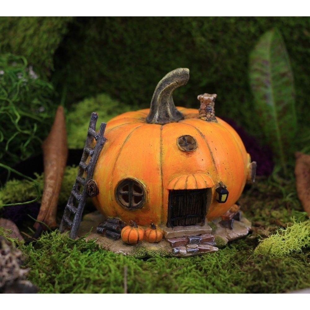 The 50 Best Diy Miniature Fairy Garden Ideas In 2019: Miniature Fairy Garden Orange Pumpkin Fairy House Garden