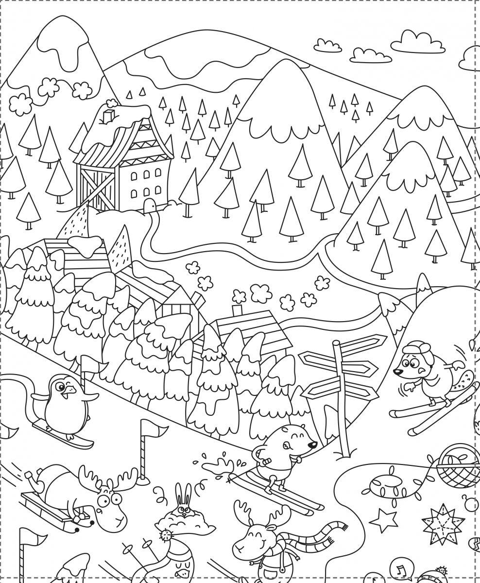 Coloriage Géant Pour Les Enfants Spécial Noël Tendances Coloriage