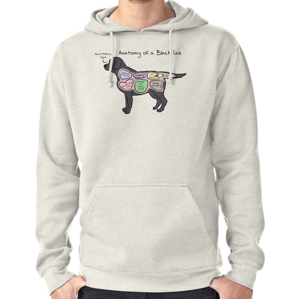 1c1cf616 Anatomy of a Black Lab Hoodie (Pullover) | Hoodies | Black labs ...