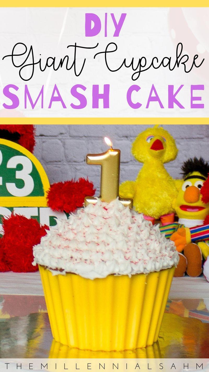 DIY: Giant Cupcake Smash Cake #giantcupcakecakes