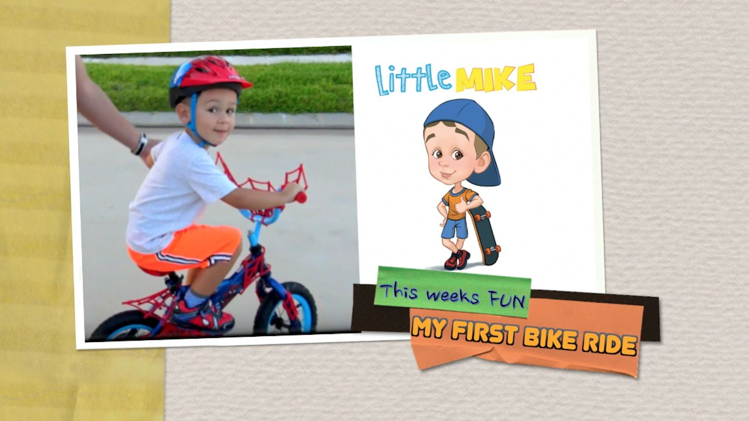 Check It Out The First Time Little Mike Rides A Bicycle Do You