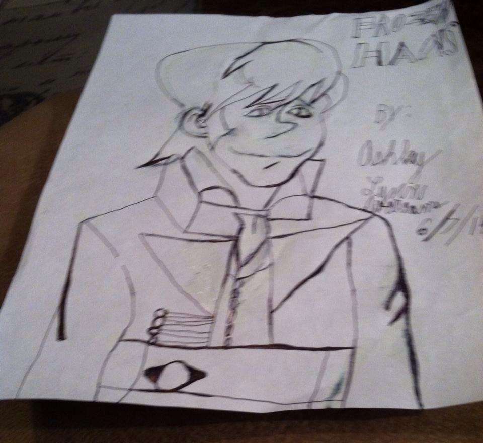 Picture of Hans that I drew from Frozen!