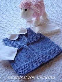 Marisa Almeida Tricot Crochet : Coletinho Tricot Bebê - em execução