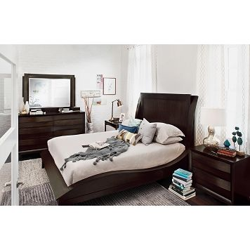Cascade Merlot Bedroom 6 Pc. Queen Bedroom - Value City ...