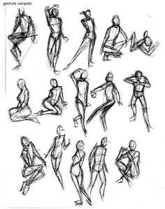 Gesture Drawing On Pinterest Drawings Action Poses And