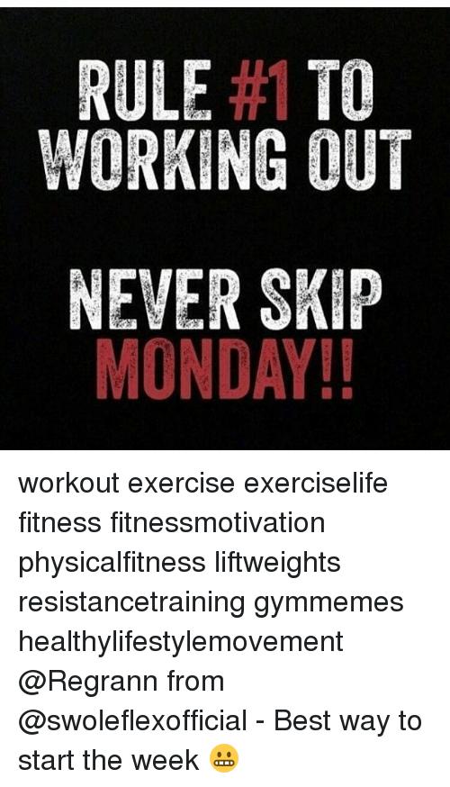 Monday Workout Meme Funny