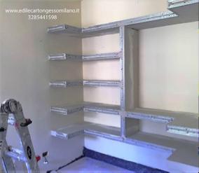 Risultati immagini per cabina armadio cartongesso - Costi parete cartongesso ...